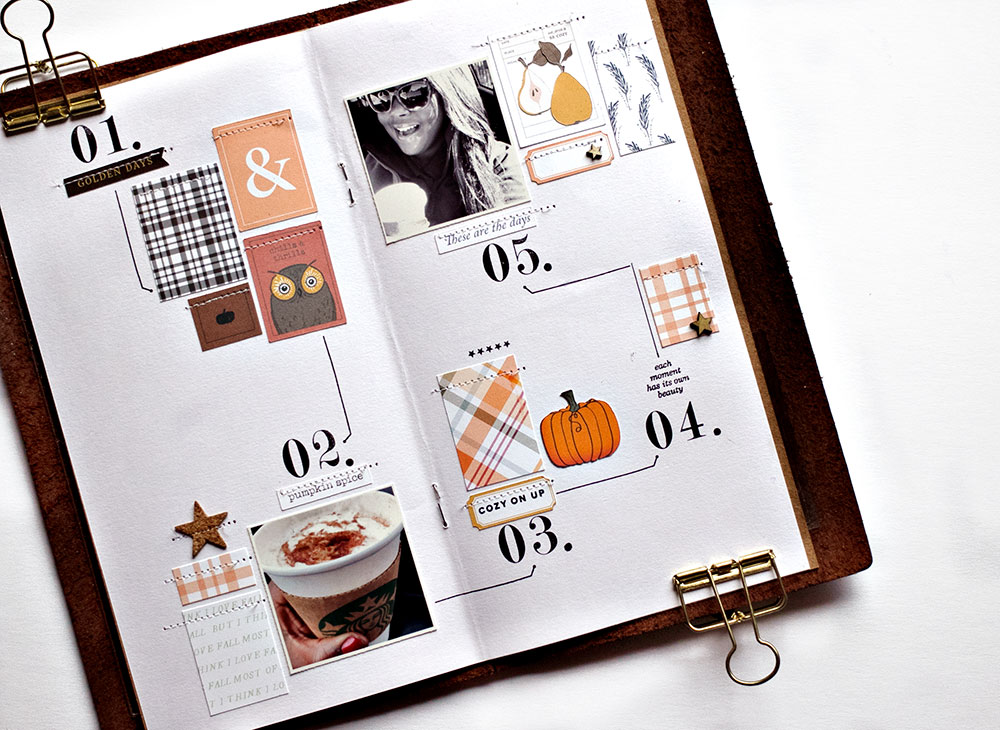 How to get inspired by a magazine layout for scrapbooking - Sahin Designs