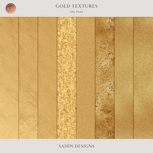 Digital Gold Textures - Sahin Designs - CU Digital Scrapbook