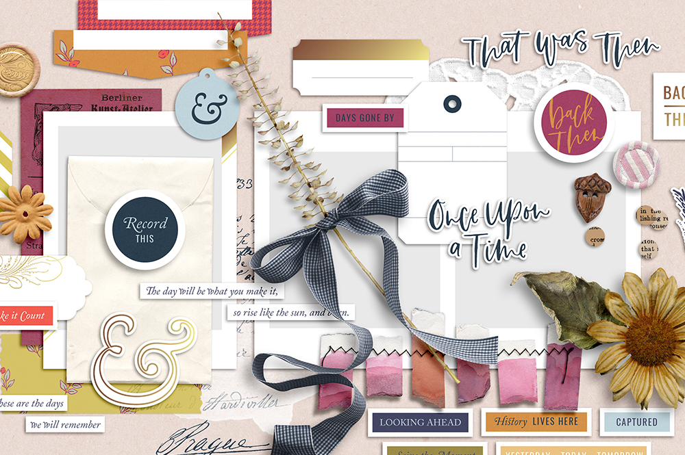 Shop update | It's About Time collection + October layout templates