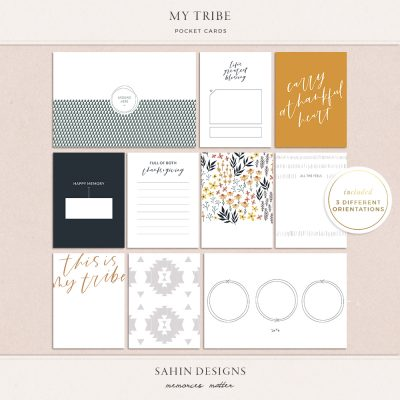 My Tribe Printable Pocket Cards - Sahin Designs