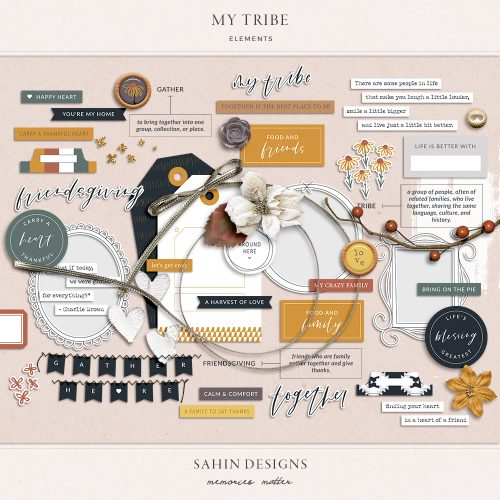 My Tribe Digital Scrapbook Elements - Sahin Designs