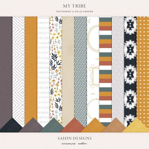 My Tribe Digital Scrapbook Papers - Sahin Designs