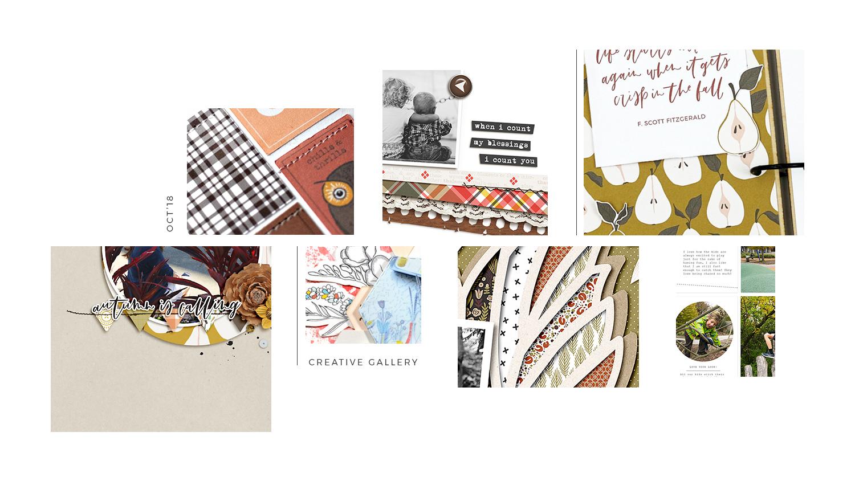 October Creative Scrapbook Gallery 2018 - Sahin Designs