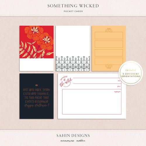 Something Wicked Printable Pocket Cards - Sahin Designs