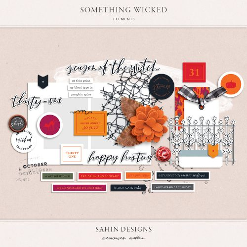 Something Wicked Digital Scrapbook Elements - Sahin Designs