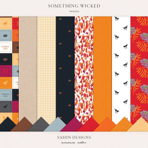 Something Wicked Digital Scrapbook Papers - Sahin Designs