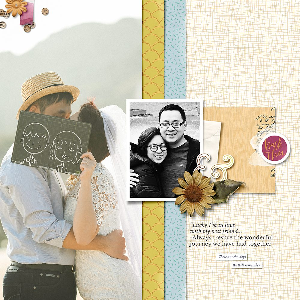 Wedding digital scrapbook layout - Sahin Designs