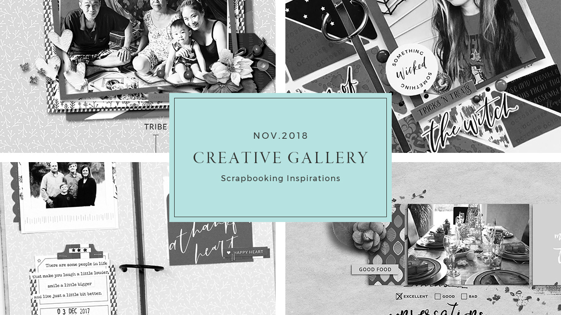 November Creative Scrapbook Gallery 2018 - Sahin Designs