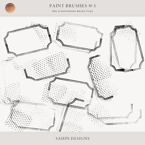 Messy Label Photoshop Brushes - Sahin Designs