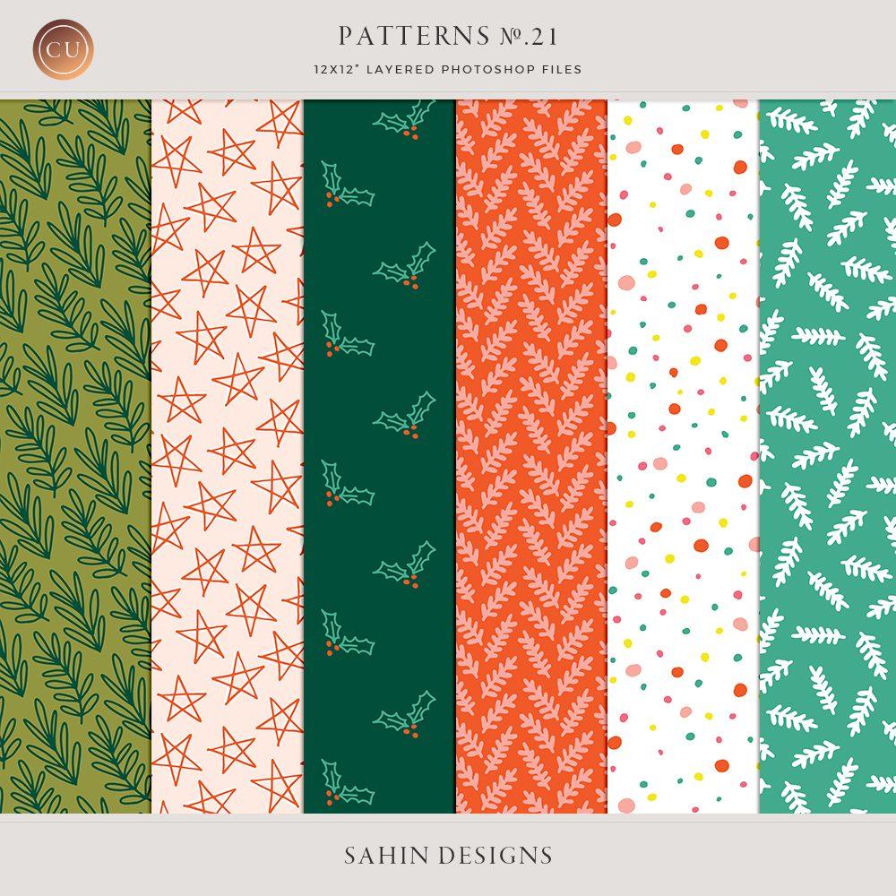 Layered Christmas Digital Patterns No.21 - Sahin Designs