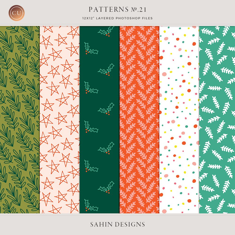 Layered Christmas Digital Patterns No.21 - Sahin Designs