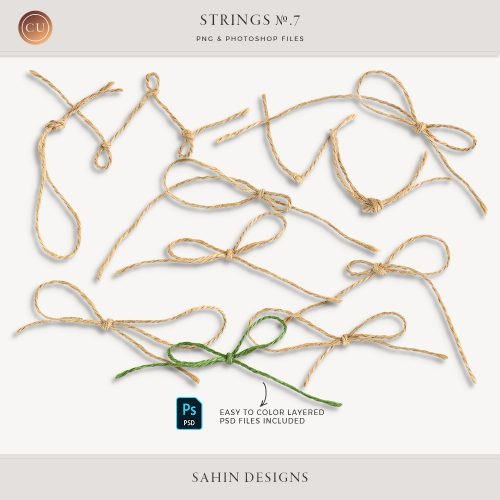 Extracted Jute Twine - Sahin Designs - CU Digital Scrapbook
