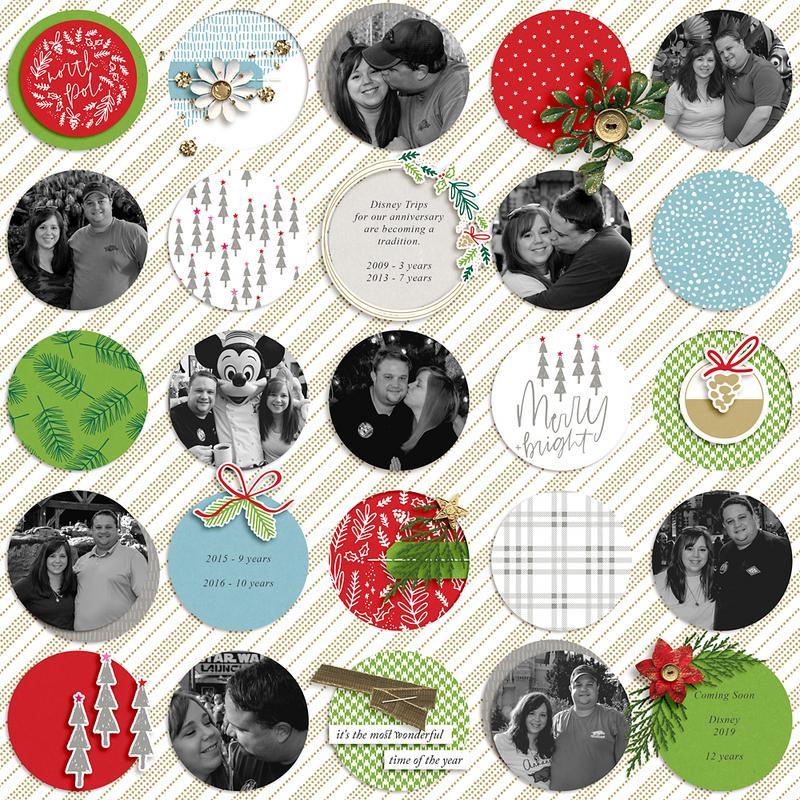 Digitial Scrapbook Layout Inspiration - Sahin Designs