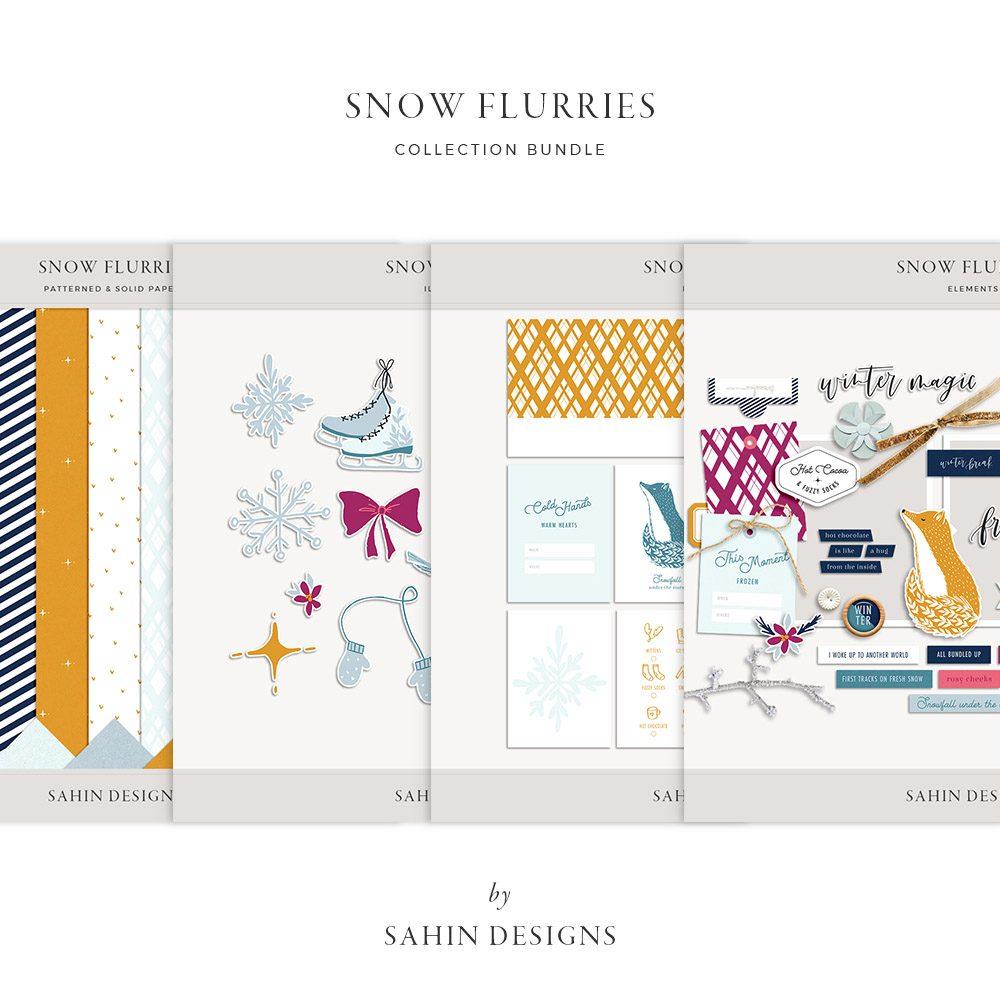 Snow Flurries Digital Scrapbook Collection - Sahin Designs