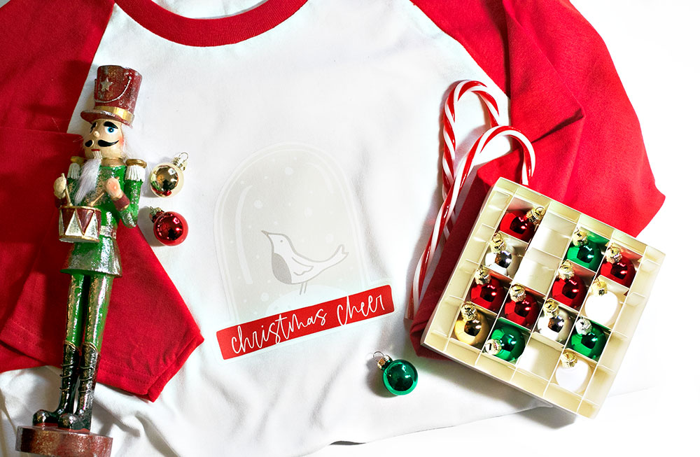How to use digital scrapbook elements for DIY iron-on holiday shirts