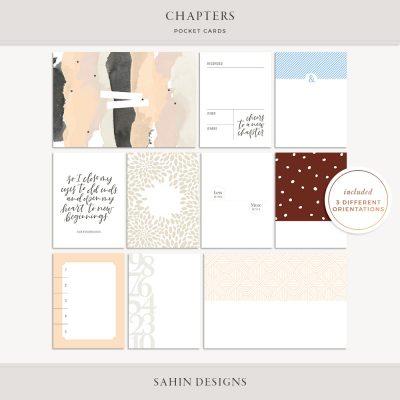 Chapters Printable Pocket Cards - Sahin Designs