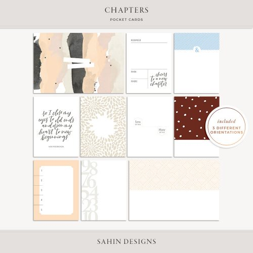Chapters Printable Pocket Cards - Sahin Designs