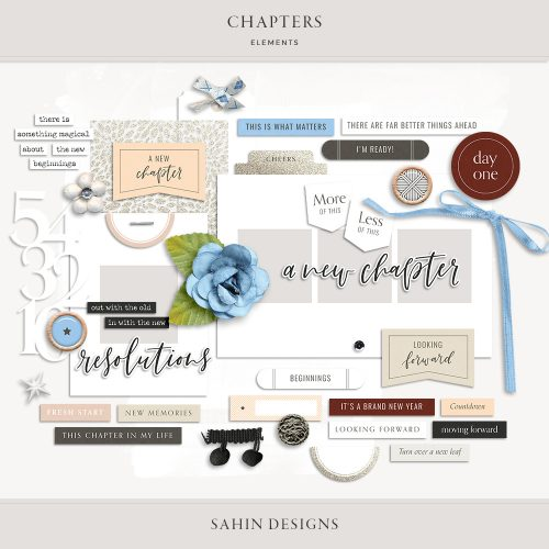 Chapters Digital Scrapbook Elements - Sahin Designs