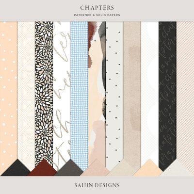 Chapters Digital Scrapbook Papers - Sahin Designs