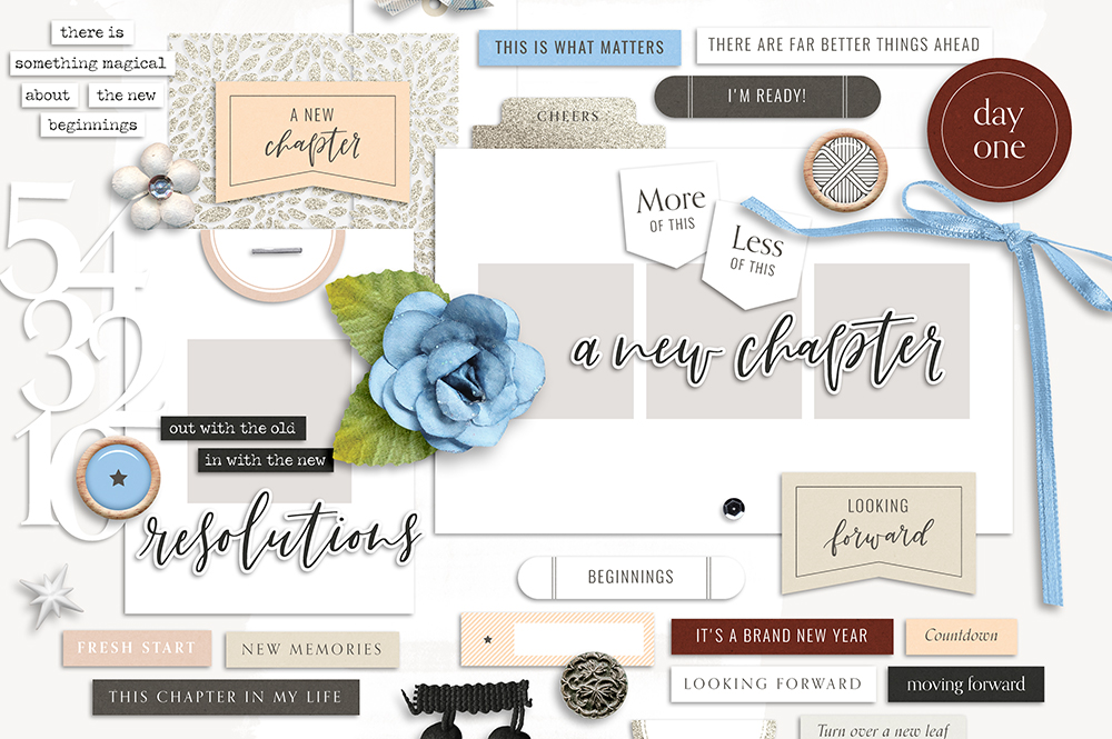 Shop update   Chapters collection + December layout templates