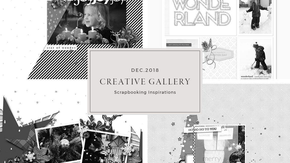 December Creative Scrapbook Gallery 2018 - Sahin Designs