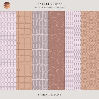 Repeat geometric patterns no22 - Sahin Designs - CU Digital Scrapbook