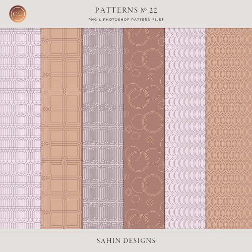 Repeat geometric patterns no22 - Sahin Designs - CU Digital Scrapbook
