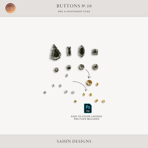 Extracted gem buttons - Sahin Designs - CU Digital Scrapbook