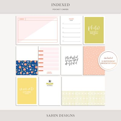 Indexed Printable Pocket Cards - Sahin Designs