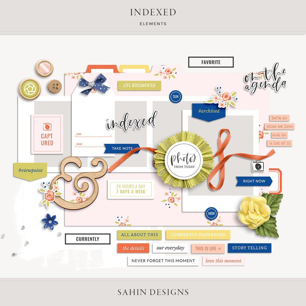 Indexed Digital Scrapbook Elements - Sahin Designs