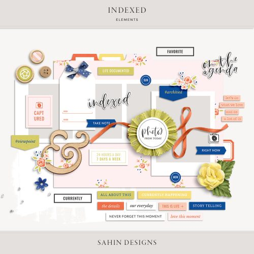 Indexed Digital Scrapbook Elements - Sahin Designs
