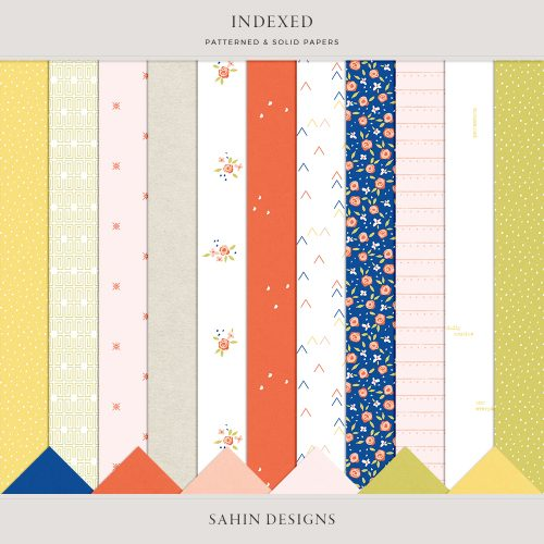 Indexed Digital Scrapbook Papers - Sahin Designs