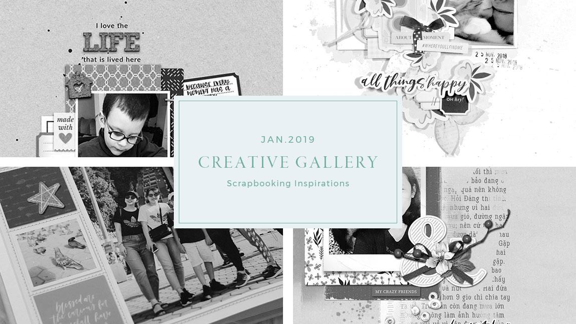 January Creative Scrapbook Gallery 2019 - Sahin Designs
