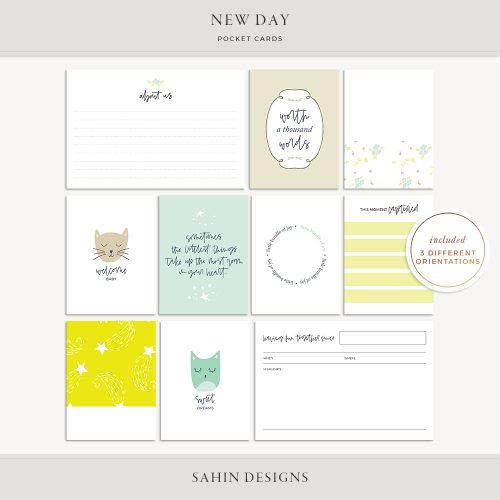 New Day Printable Pocket Cards - Sahin Designs