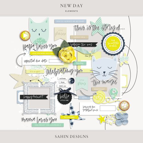 New Day Digital Scrapbook Elements - Sahin Designs