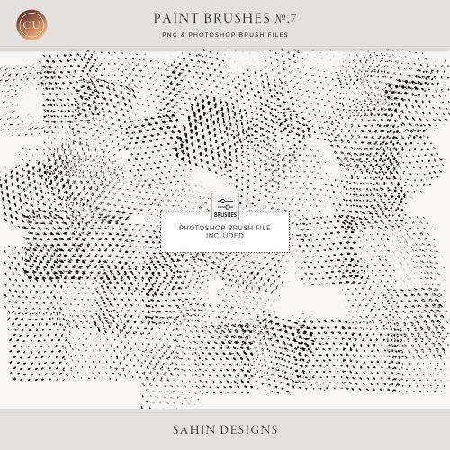 Halftone Photoshop Brushes - Sahin Designs - CU Digital Scrapbook