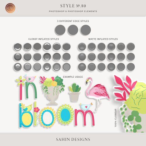 Inflated Epehemera Photoshop Layer Styles - Sahin Designs - CU Digital Scrapbook