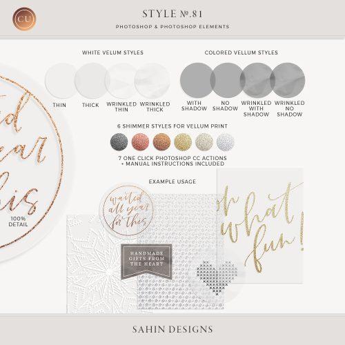 Vellum Photoshop Layer Styles - Sahin Designs - CU Digital Scrapbook