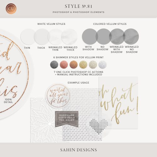 Vellum Photoshop Layer Styles - Sahin Designs - CU Digital Scrapbook