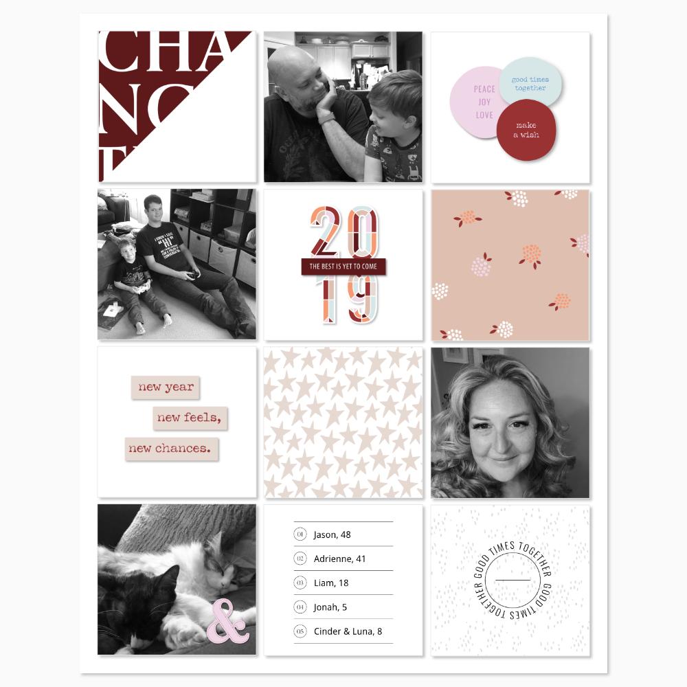 Pocket Scrapbook Layout Inspiration- Sahin Designs
