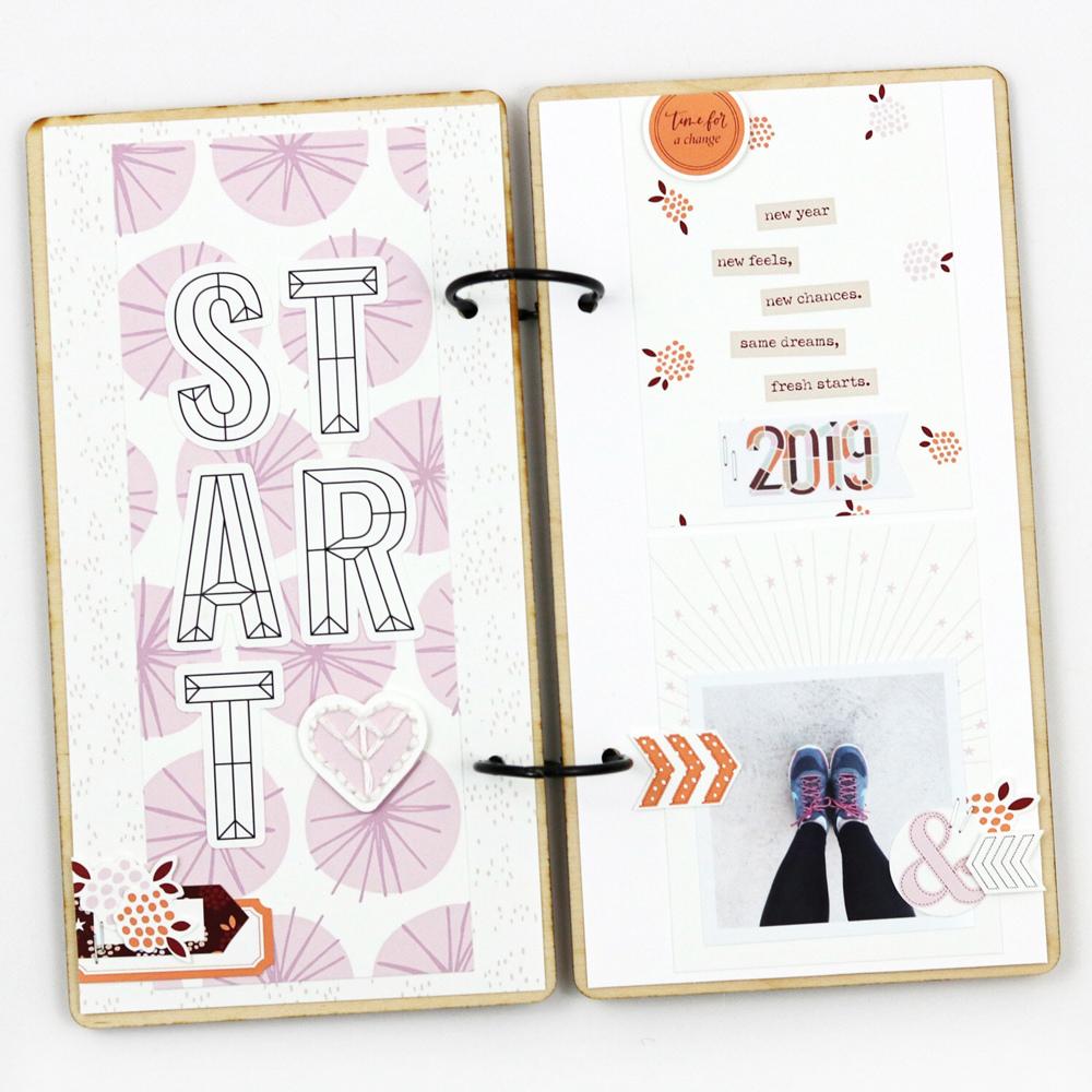 Hybrid Scrapbook Layout Inspiration- Sahin Designs