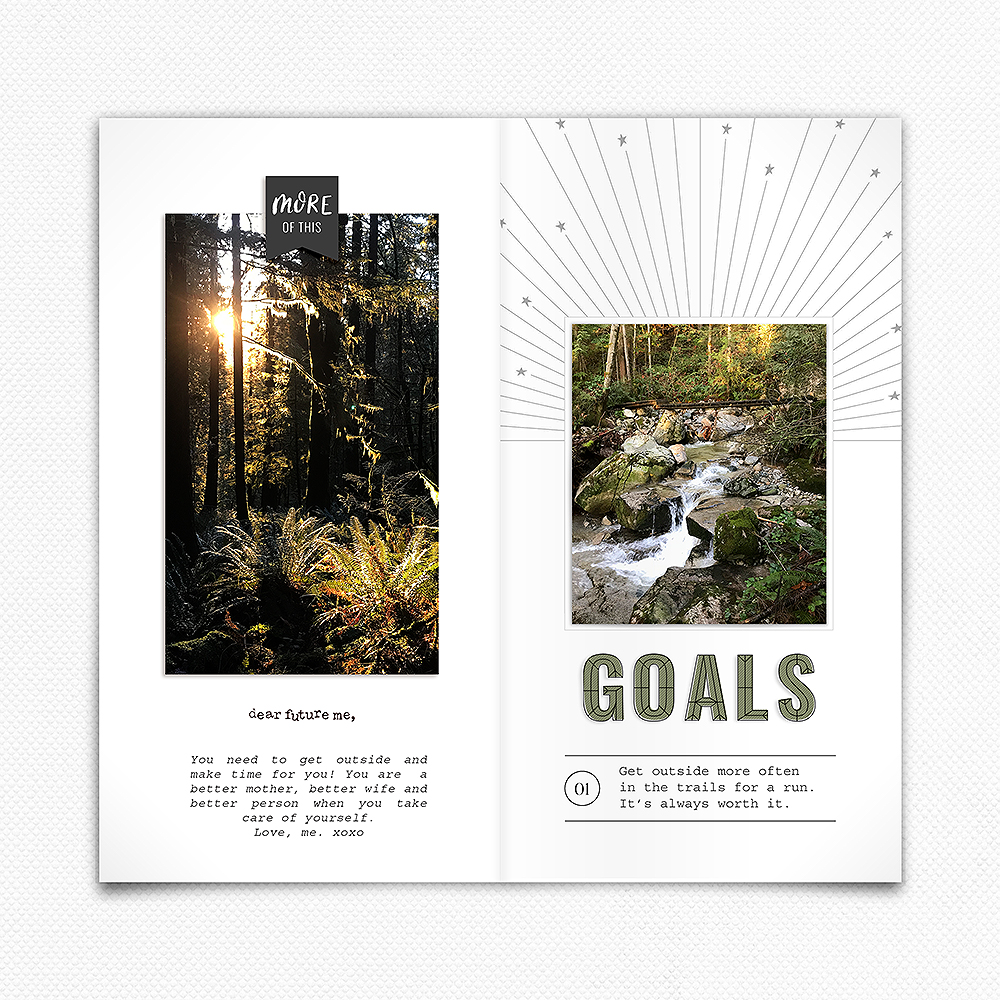 Digital Scrapbook Layout Inspiration- Sahin Designs