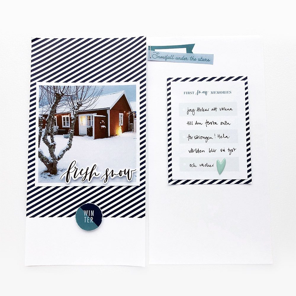 Hybrid scrapbook layout inspiration - Sahin Designs