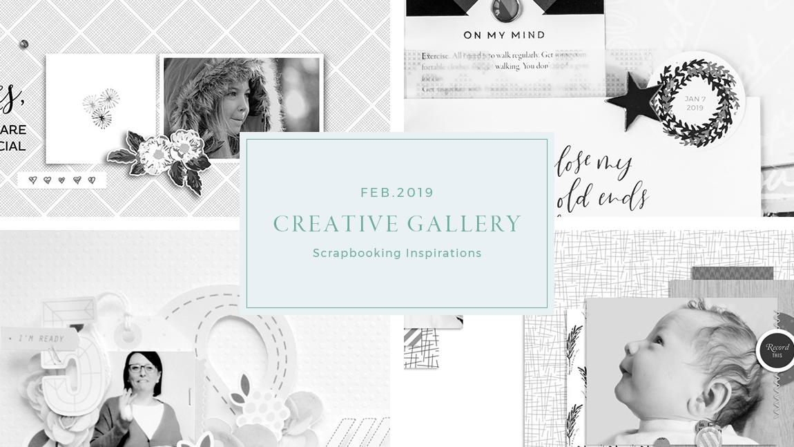 February Creative Scrapbook Gallery 2019 - Sahin Designs