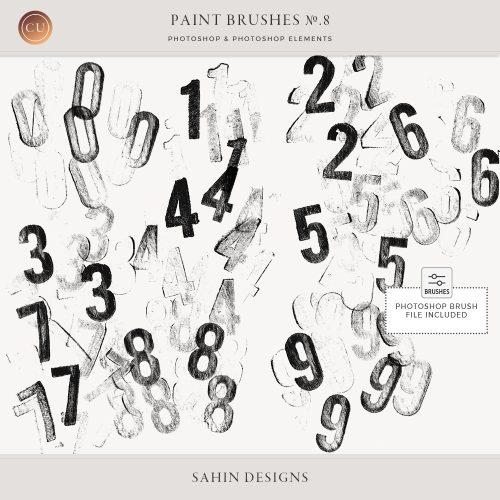 Digital Number Stamps - Sahin Designs - CU Digital Scrapbook