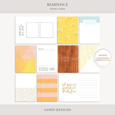 Reminisce Printable Pocket Cards - Sahin Designs
