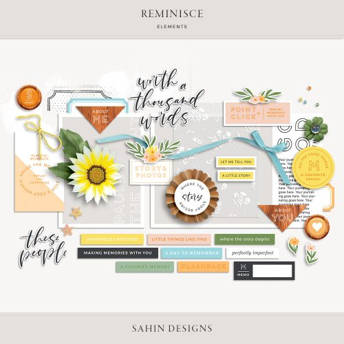 Reminisce Digital Scrapbook Elements - Sahin Designs