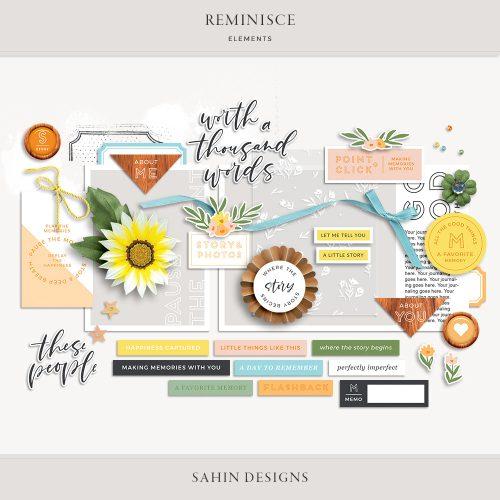 Reminisce Digital Scrapbook Elements - Sahin Designs