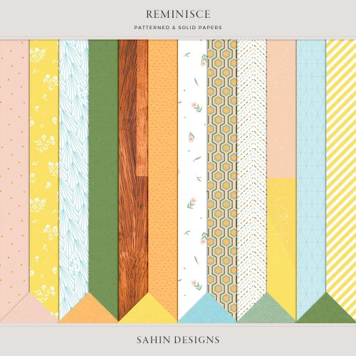 Reminisce Digital Scrapbook Papers - Sahin Designs