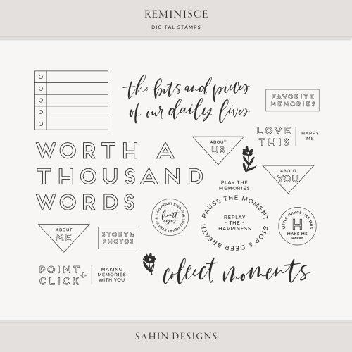 Reminisce Digital Scrapbook Stamps - Sahin Designs